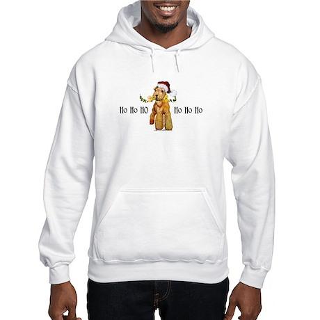 Irish Terrier HO HO HO Hooded Sweatshirt