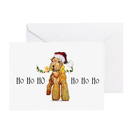 Irish Terrier HO HO HO Greeting Card