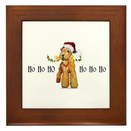 Irish Terrier HO HO HO Framed Tile