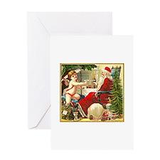 Santa New Year Greeting Card