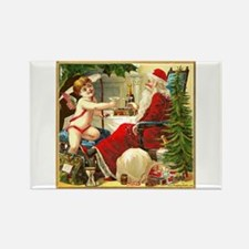 Santa New Year Rectangle Magnet
