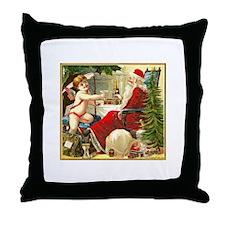 Santa New Year Throw Pillow