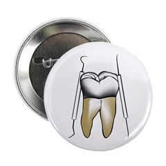 "Tooth and Tools 2.25"" Button"