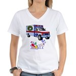 EMS Happy Holidays Greetings Women's V-Neck T-Shir