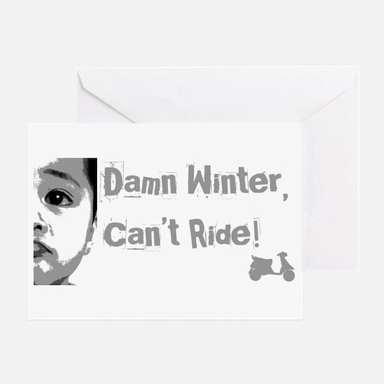 Damn Winter Greeting Card