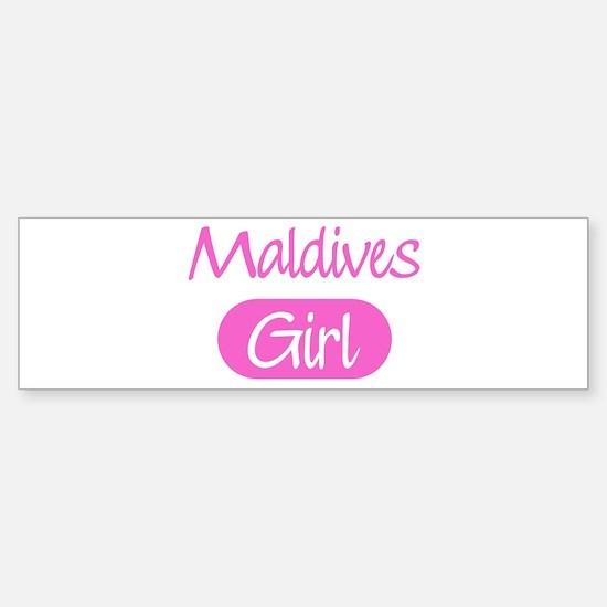 Maldives girl Bumper Bumper Bumper Sticker