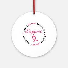 BreastCancerSupport Ornament (Round)