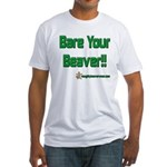 Bare Your Beaver Fitted T-Shirt