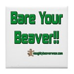 Bare Your Beaver Tile Coaster