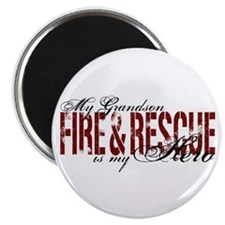 Grandson My Hero - Fire & Rescue Magnet