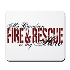 Grandson My Hero - Fire & Rescue Mousepad