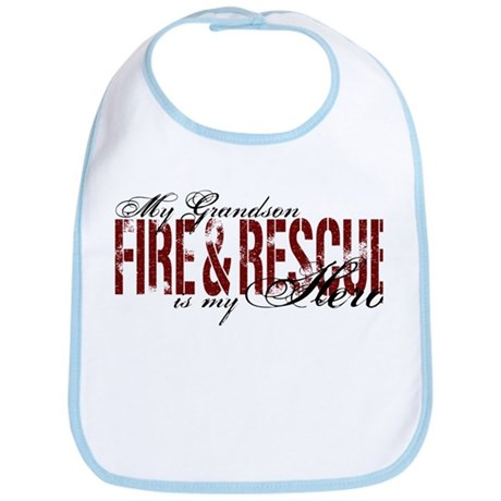 Grandson My Hero - Fire & Rescue Bib