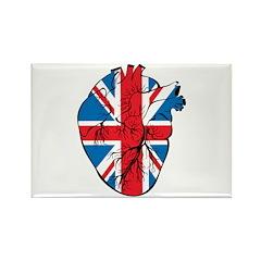 Heart Britain Rectangle Magnet