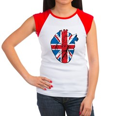 Heart Britain Women's Cap Sleeve T-Shirt