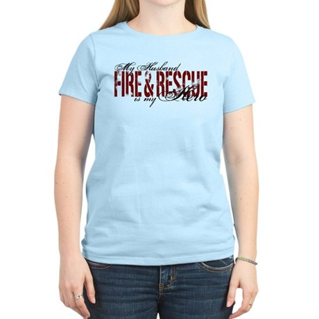 Husband My Hero - Fire & Resue Women's Light T-Shi