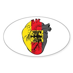 Heart Germany Oval Decal