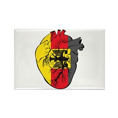 Heart Germany Rectangle Magnet (10 pack)