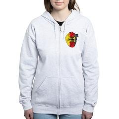 Heart Germany Zip Hoodie