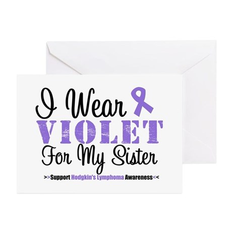 I Wear Violet For My Sister Greeting Cards (Pk of