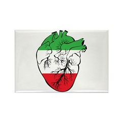 Heart Italy Rectangle Magnet (100 pack)