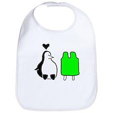 Penguin Love Bib