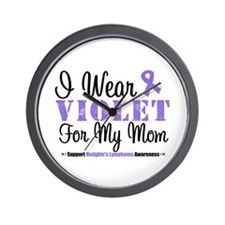 I Wear Violet For My Mom Wall Clock