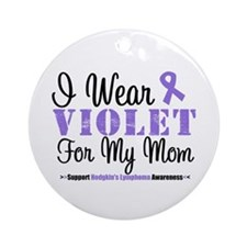 I Wear Violet For My Mom Ornament (Round)