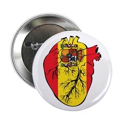 "Heart Spain 2.25"" Button (100 pack)"