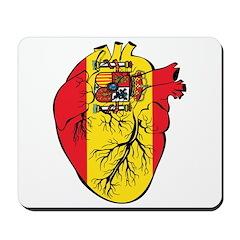 Heart Spain Mousepad