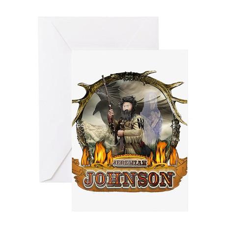 Liver eating Johnson Jeremiah Greeting Card