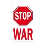 Stop Sign Stop War (bumper sticker)