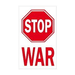 Stop Sign Stop War (bumper sticker)