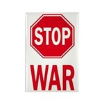 Stop Sign Stop War (fridge magnet)