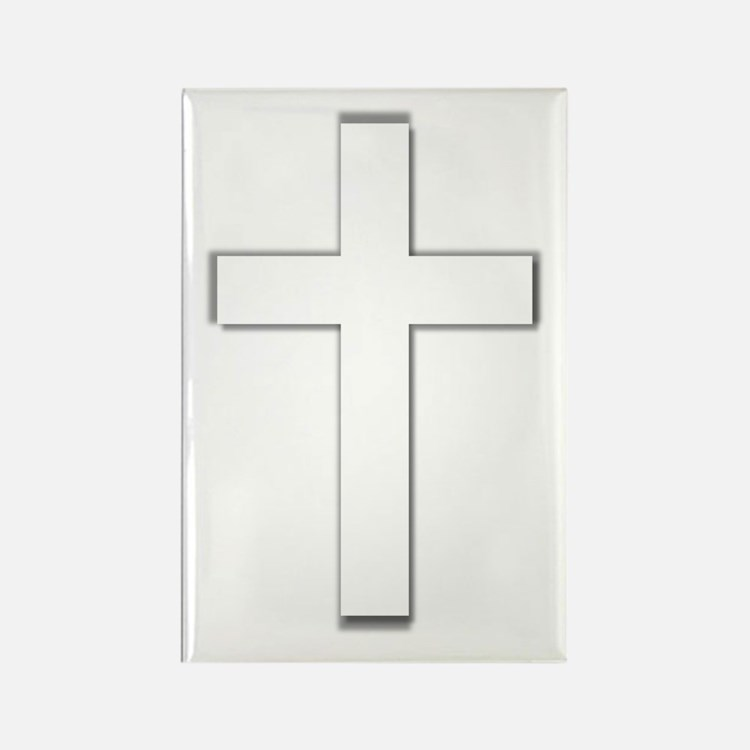 Simple Cross Rectangle Magnet (10 pack)
