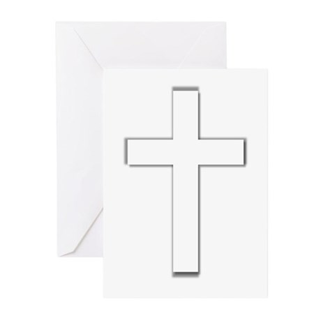Simple Cross Greeting Cards (Pk of 20)