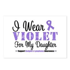 I Wear Violet Ribbon Daughter Postcards (Package o