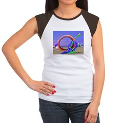 Fantasy Beach Women's Cap Sleeve T-Shirt