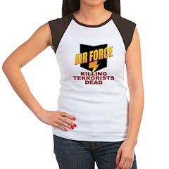 USAF Killing Terrorists Women's Cap Sleeve T-Shirt