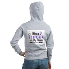 I Wear Violet For My Cousin Zip Hoodie