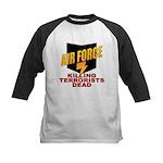 USAF Killing Terrorists Kids Baseball Jersey