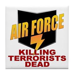 USAF Killing Terrorists Tile Coaster