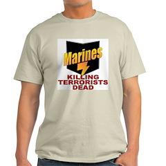 USMC Killing Terrorists Ash Grey T-Shirt
