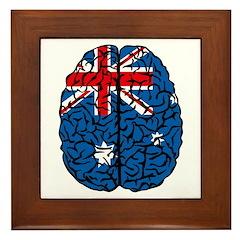 Brain Australia Framed Tile