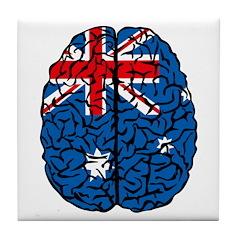 Brain Australia Tile Coaster