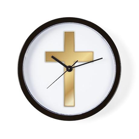 Truest Gold Cross Wall Clock