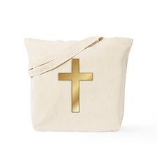 Truest Gold Cross Tote Bag