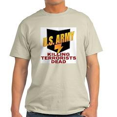 U.S. Army Killing Terrorists Ash Grey T-Shirt