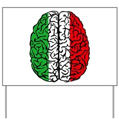 Brain Italy Yard Sign