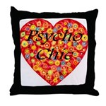 Psycho Chic Throw Pillow