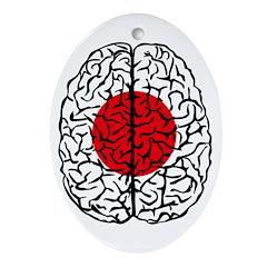 Brain Japan Oval Ornament